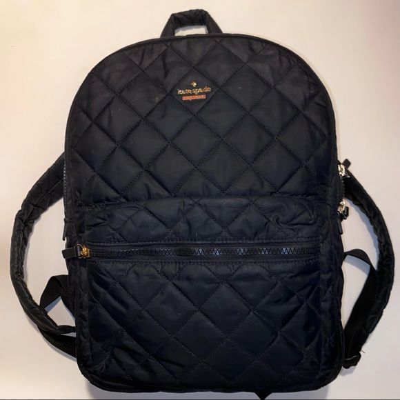♠️ KATE SPADE BACKPACK SIGGY QUILTED NYLON BLACK